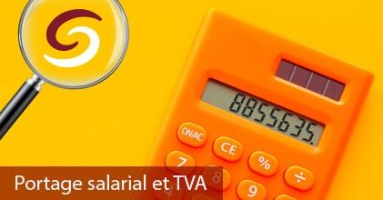 Portage salarial et TVA visuel